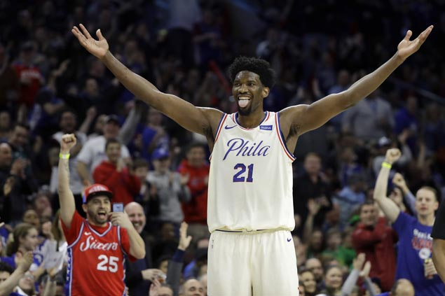 Double celebration for birthday boy Joel Embiid as 76ers nip Nets