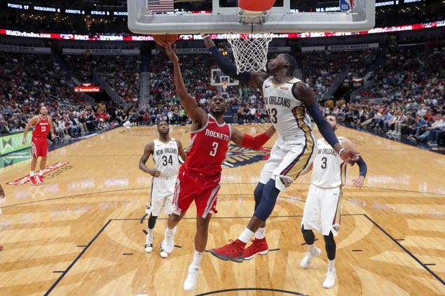 Rockets overcome Pelicans to make it four straight wins