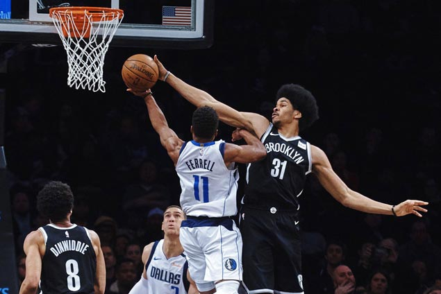 Nets squander big lead but recover to beat Mavericks and snap three-game skid