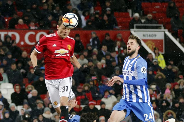 Lukaku, Matic power Man United past Brighton and into FA Cup semifinals