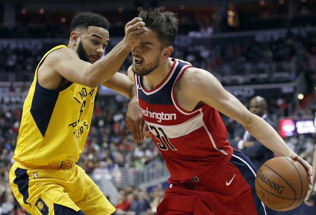 Wizards down Pacers for second straight win and share of fourth in Eastern Conference