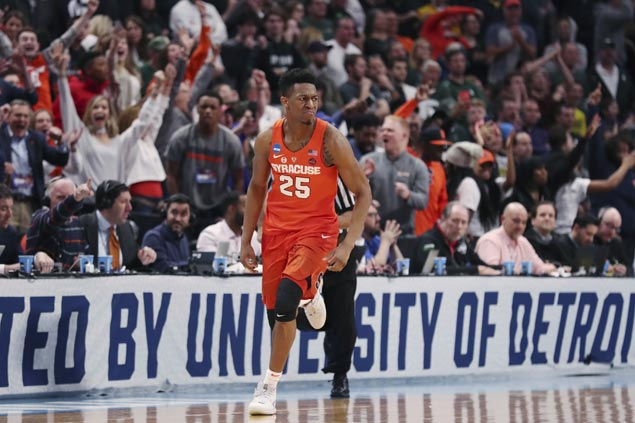 No. 11 Syracuse zones third seed Michigan State out of NCAA Tournament to gain Sweet 16