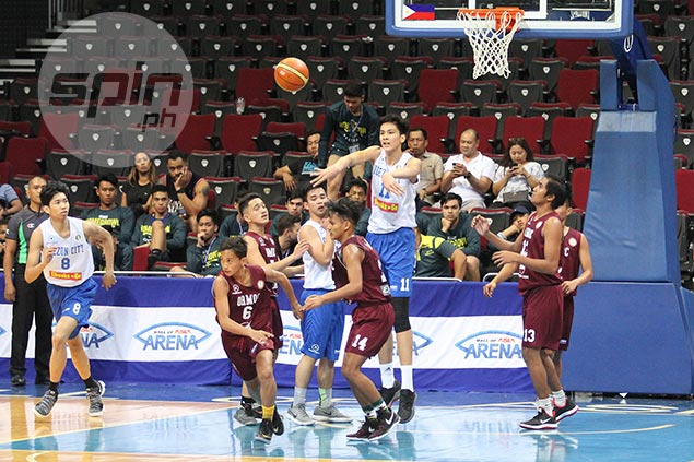 Ateneo Blue Eaglets kick off NBTC title bid with rout over New Ormoc NHS Eagles