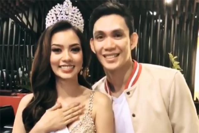 Double celebration for PJ Simon as fiancee Huelar crowned Bb. Pilipinas Supranational