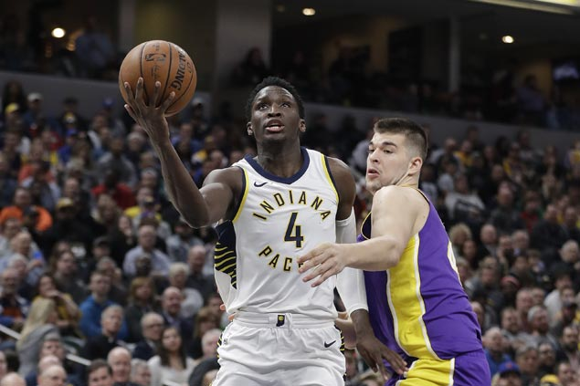 Pacers overcome poor start to beat Lakers and snap two-game slide