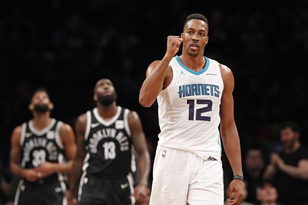Dwight Howard posts first 30-30 game in over seven years as Hornets edge Nets