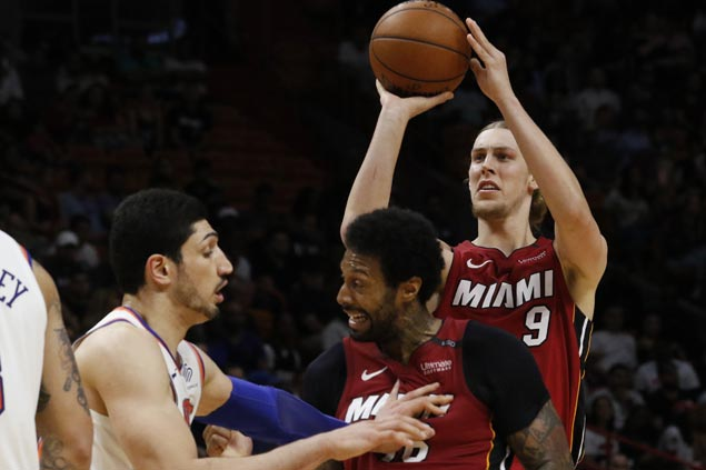 Kelly Olynyk posts huge double-double as Heat rip Knicks, stay seventh in East