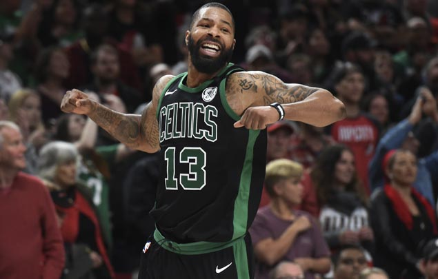Marcus Morris stars as undermanned Celtics rally to send Blazers to second straight loss