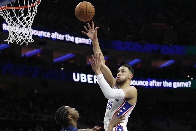 Ben Simmons posts triple-double as 76ers beat Wolves to close in on playoff berth