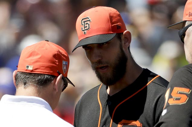 Madison Bumgarner out at least two months after surgery on pitching hand
