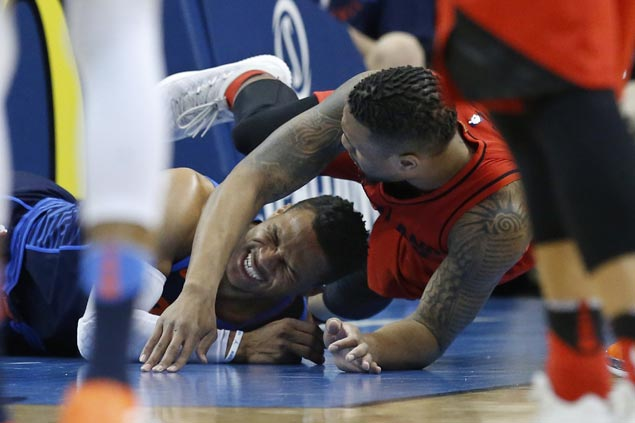 Blazers complete season sweep of Thunder, pad lead in race for No. 3 in West