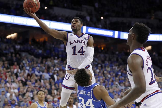 Kansas Jayhawks back in Final Four after overtime victory over Duke