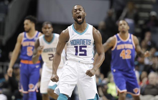 Kemba Walker takes charge in OT as Hornets top Knicks, spoil Trey Burke's 42-point night