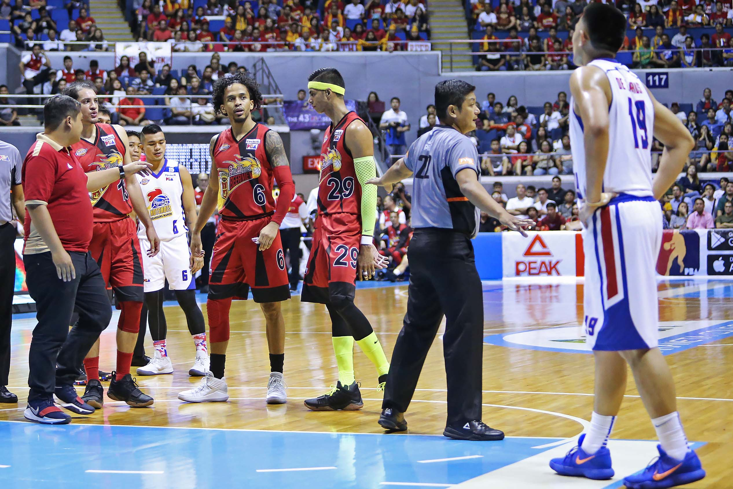 Chris Ross says taunt in response to a Magnolia player 'who did a cheap shot on me'