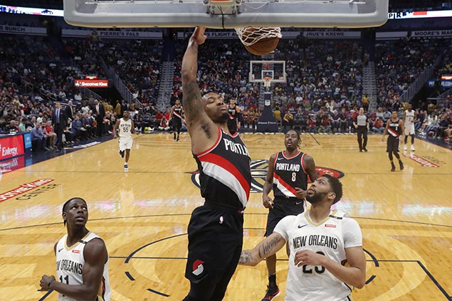 New dad Lillard catches fire in fourth to lift Blazers in wild finish over Pelicans