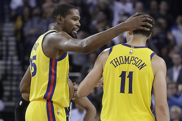 Banged-up Warriors fall short anew but Durant set to play vs Bucks, Thompson close to return