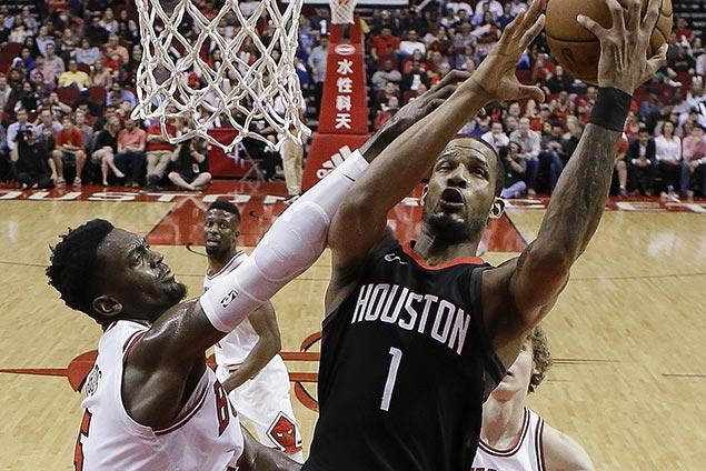 Rockets missing Harden blow by lowly Bulls to extend win streak to 10