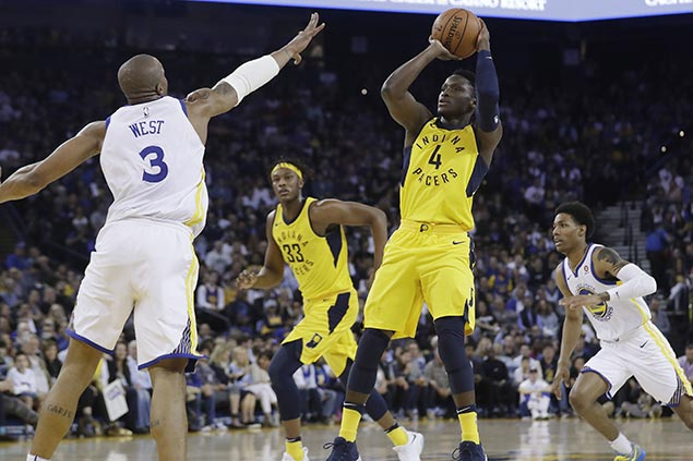 Pacers rally late for third straight win as depleted Warriors suffer back-to-back losses