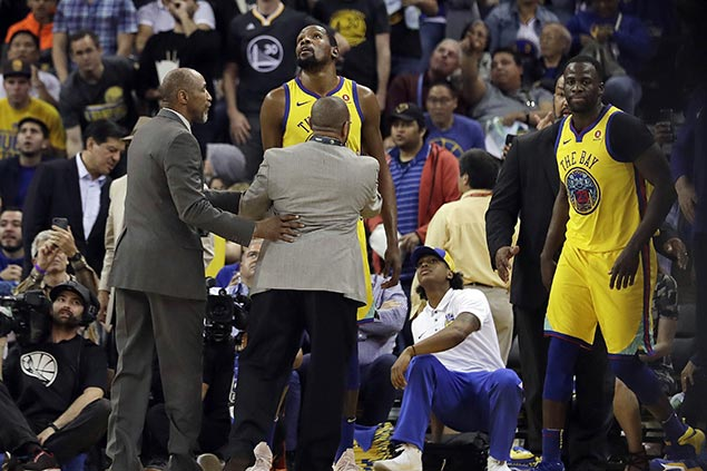 Kevin Durant's return from injury layoff a brief one, no thanks to 'vulgarity'