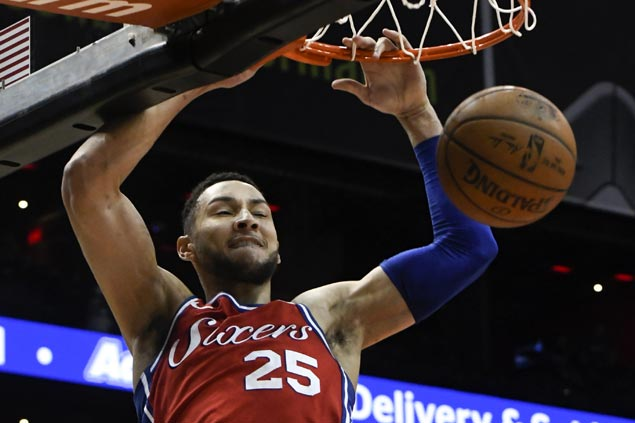 Simmons posts triple-double as Embiid-less 76ers beat Hawks for ninth straight win