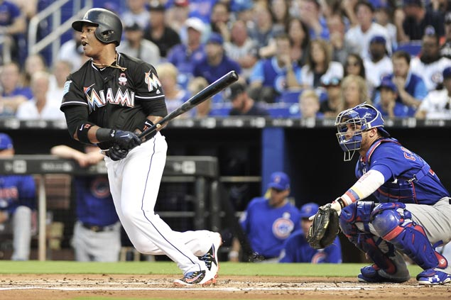 Marlins overcome Cubs in 17-inning marathon to give Derek Jeter first win as CEO