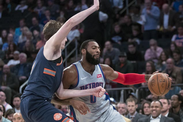 Andre Drummond falls just short of another 20-20 game as Pistons defeat Knicks