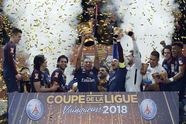 Paris Saint-Germain bags fifth straight Coupe de la Ligue with rout of Monaco