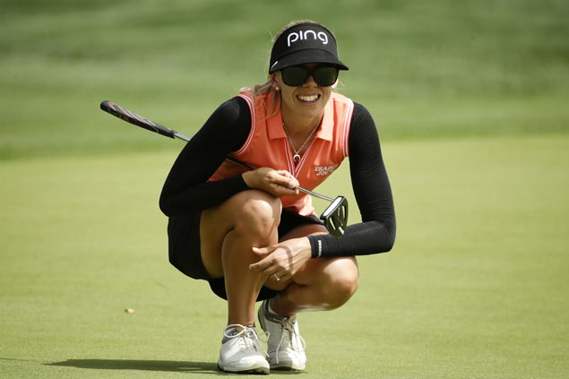 Pernilla Lindberg steady on moving day to carry three-stroke lead into final round at Mission Hills