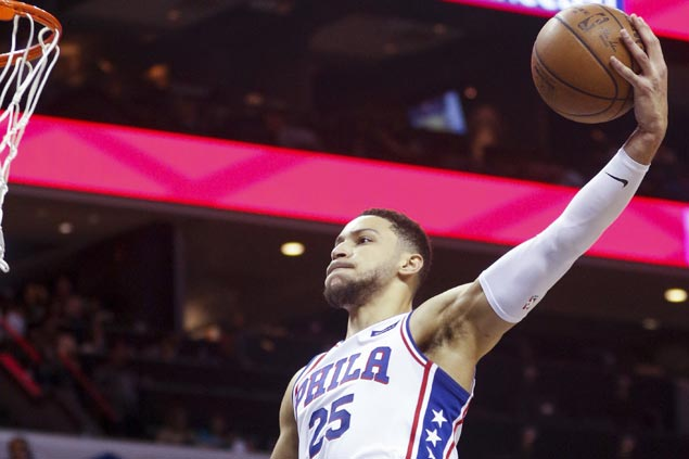 Ben Simmons flirts with triple-double in playoff debut as 76ers rip Heat