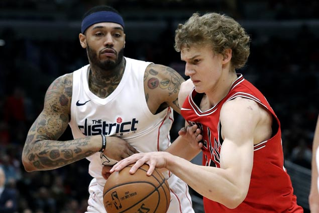 Lauri Markkanen nails five of Bulls' 18 triples in rout of playoff-bound Wizards