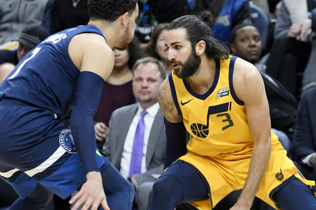 Ricky Rubio a thorn in side of former team as Jazz down Wolves to boost playoff position