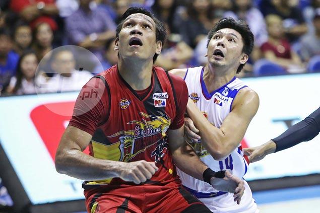 Strenuous defensive job on June Mar Fajardo taking a toll on Ian Sangalang's offense