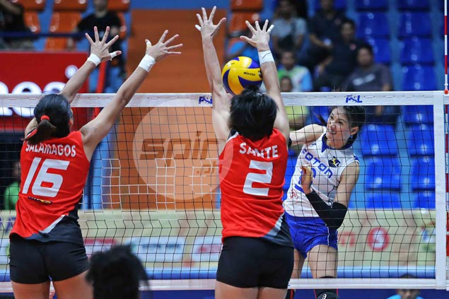 Dindin shows way as Foton Tornadoes overcome Cignal in tough PSL four-setter