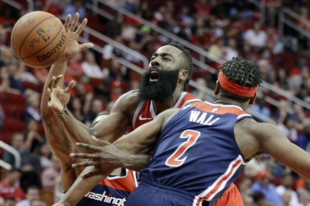 James Harden scores 38, flirts with triple-double as Rockets rout Wizards