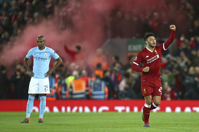 Liverpool stuns Manchester City to take huge lead in Champions League quarterfinals