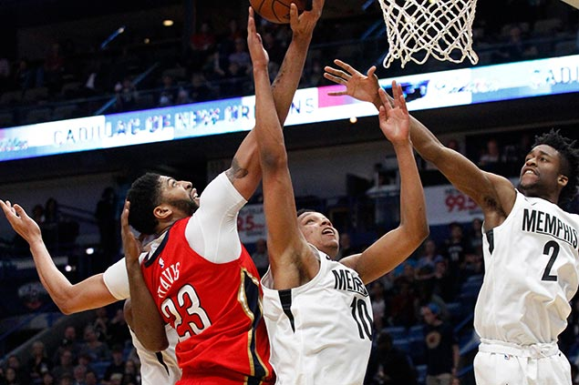 Pelicans clobber lowly Grizzlies to tighten grip on last spot in West playoff race