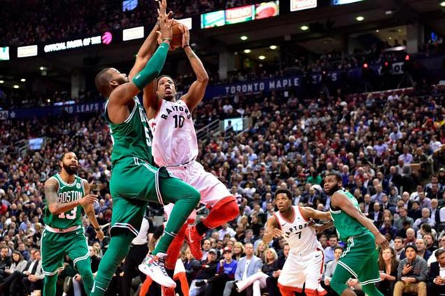 Raptors close in on clinching East top seed with romp over shorthanded Celtics