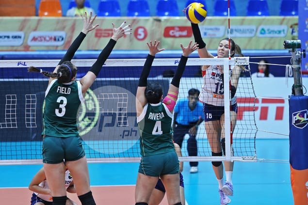 Lindsay Stalzer admits Petron spikers' minds elsewhere in upset loss to Sta. Lucia