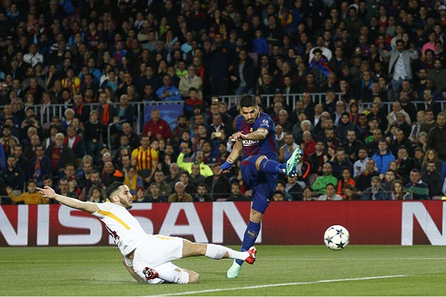 Barcelona rips sloppy Roma in first leg of Champions League quarterfinal duel