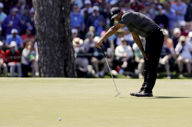 Tiger Woods has unspectacular opening round but still feeling good about chances at Masters