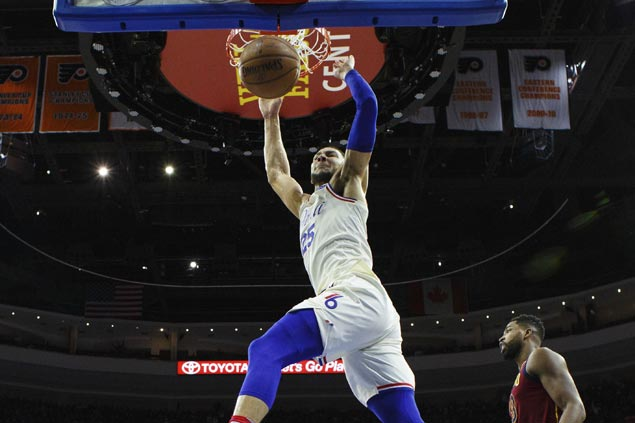 Embiid-less Sixers down Cavaliers to take No. 3 spot in Eastern Conference