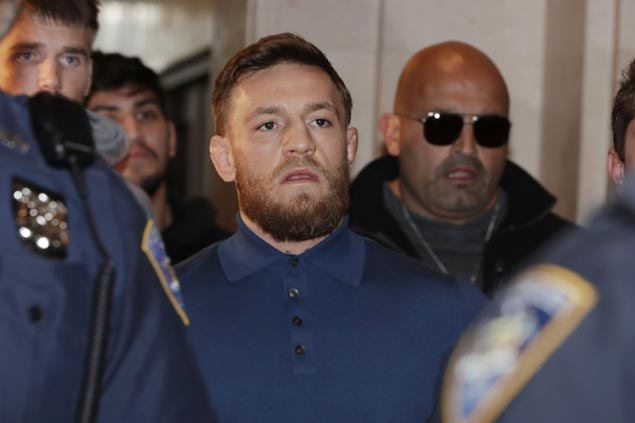 Conor McGregor released on US$50,000 bail after being charged with assault
