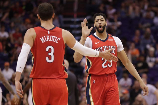 Double-doubles by Mirotic, Davis, Holiday power Pelicans past Suns and into a share of fifth in West