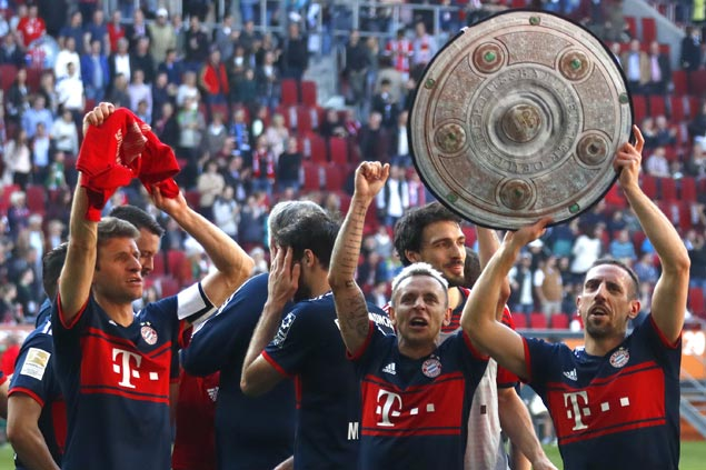 Bayern sets sights on Champions League, German Cup after bagging Bundesliga title with five rounds to spare
