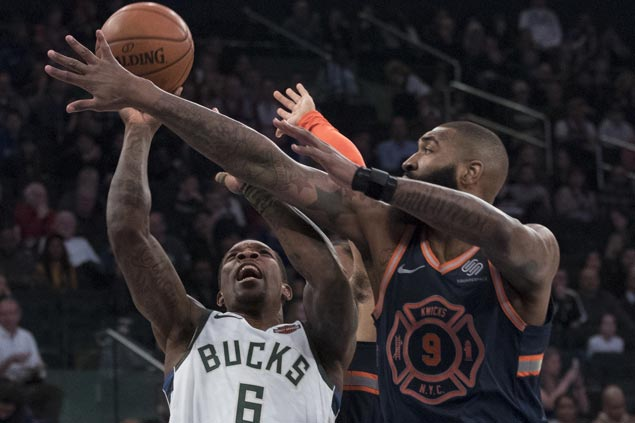 Bucks down Knicks to move into tie for sixth in Eastern Conference