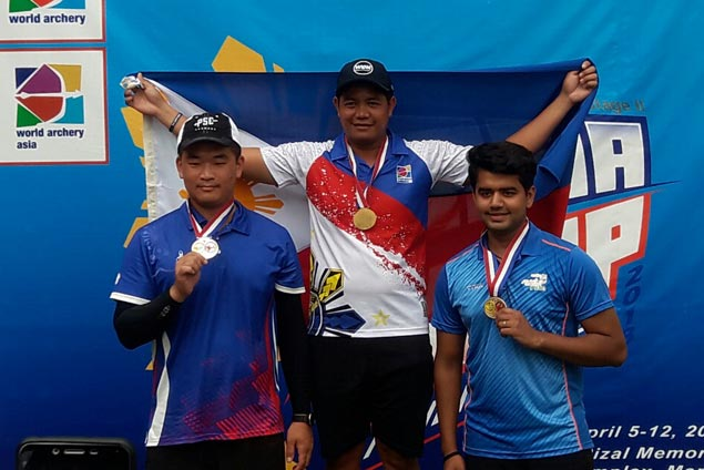 Paul Marton de la Cruz bags second gold medal in Asia Cup archery at Rizal Memorial Baseball Stadium