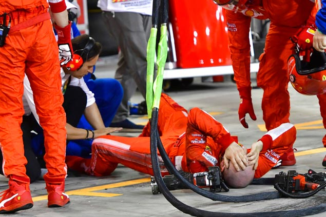 Ferrari mechanic who broke leg after Raikkonen accident says he's ok after surgery