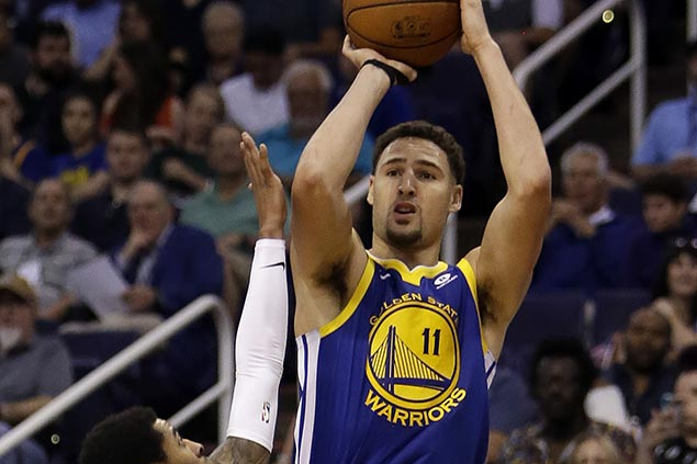 Klay Thompson heats up early to end Warriors skid as lowly Suns lock down last place