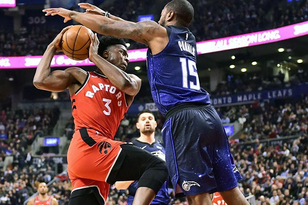 CJ Miles, OG Anunoby lead three-point barrage as undermanned Raptors shoot down Magic