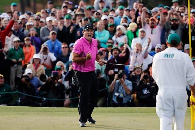 Patrick Reed survives late charge from Jordan Spieth, Rickie Fowler to win Masters